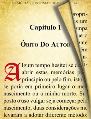 cap 1 Obito do Autor e1333724794696 Memórias Póstumas de Brás Cubas, Machado de Assis   Resumo, Análise da Obra