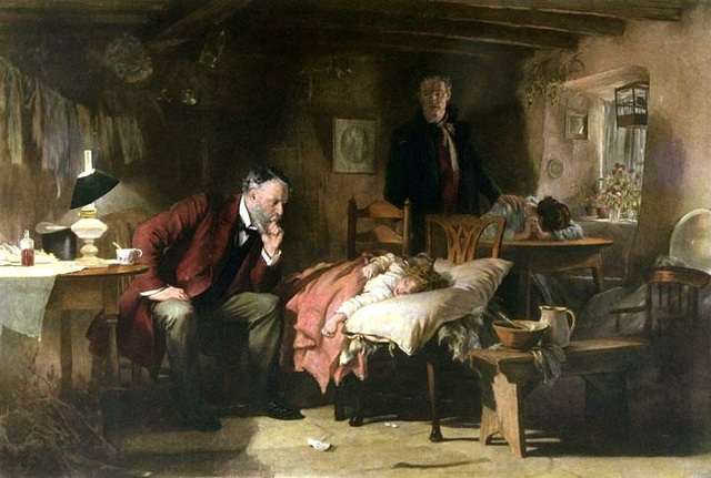 "The Doctor"",1891; Samuel Luke Fildes (1844-1927), Óleo sobre tela, Galeria Tate (Londres)"