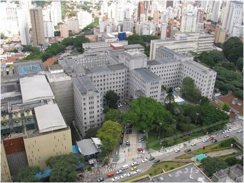 Vista do Instituto central do HC -Fmusp (um dos meus queridos locais de estudo)