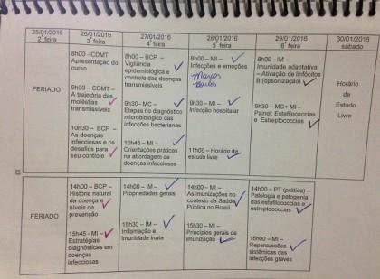 Cronograma Primeira Semana