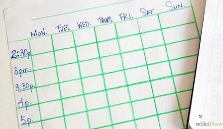 Como se organizar nos estudos (foto WikiHow)
