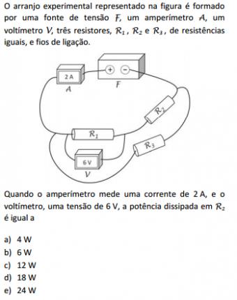 Elétrica e Resistores são temas frequentes também